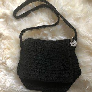 The sack black crocheted bag✨